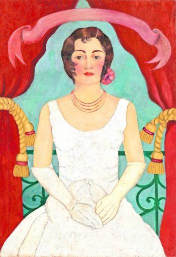 Mujer de blanco se convierte en la pintura más cara de Frida Kahlo