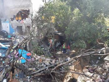 Explota tanque de gas en panadería y suspenden clases en San Martín Mexicapan, Oaxaca