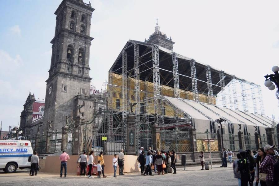 Continúan las obras de reproducción de la Capilla Sixtina en México