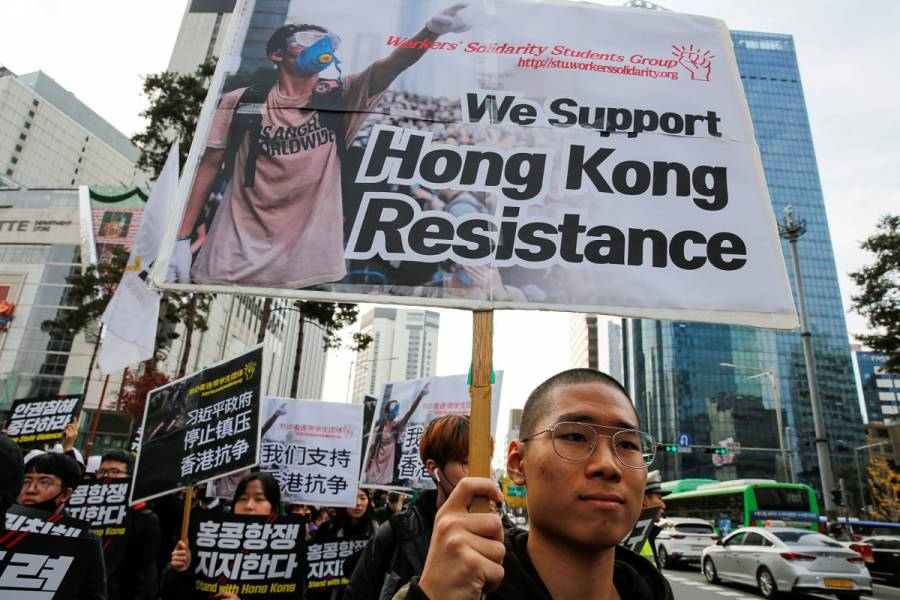 Termina el sitio a la universidad de Hong Kong; preparan elecciones