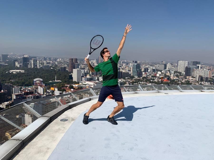 Roger Federer listo para la Plaza de Toros México