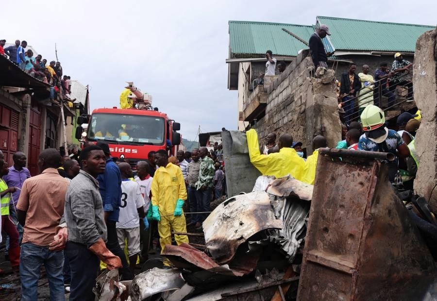 24 personas mueren tras caída de avión en Congo
