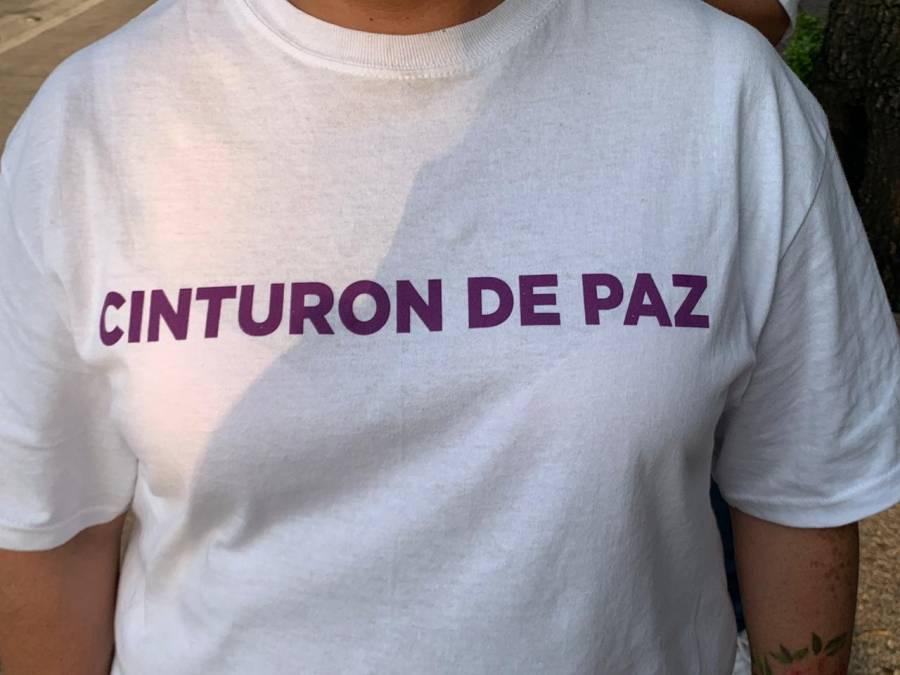 """Se implementa """"Cinturón de la paz"""" ante marcha contra violencia de genero"""