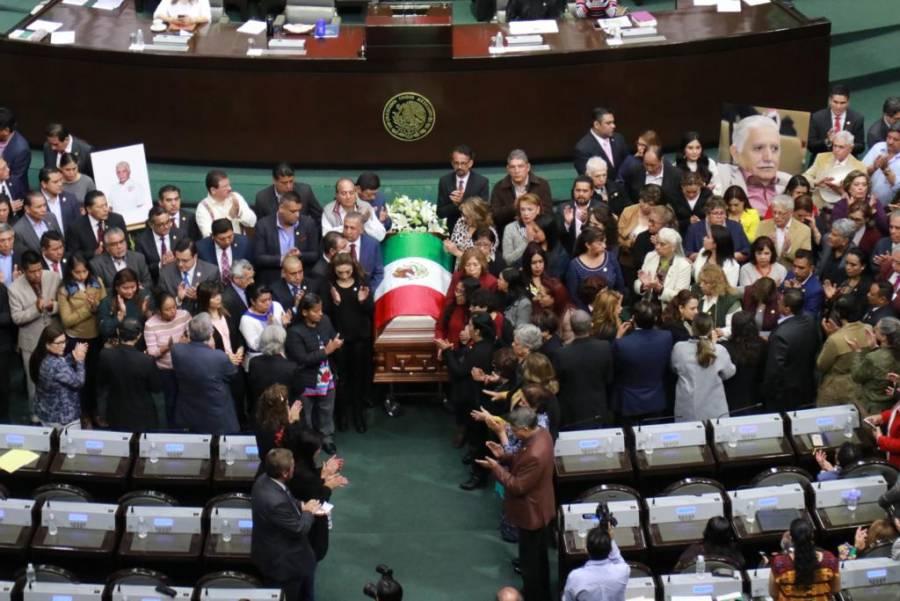 Realizan diputados homenaje de cuerpo presente a legislador fallecido, Maximiliano Ruiz