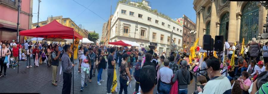 Protestan en Congreso capitalino, piden reglas claras en INVI