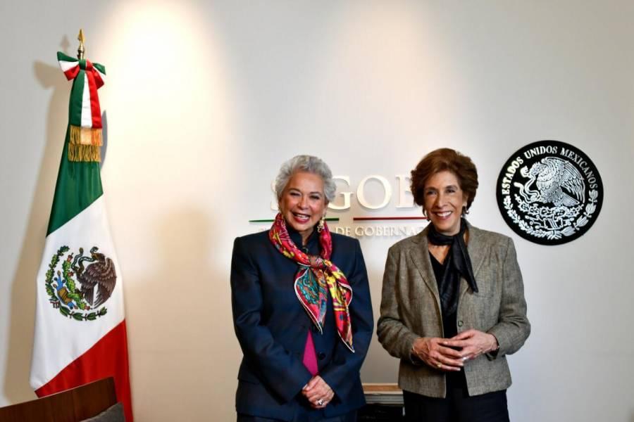 Rechaza Sánchez Cordero que marchas feministas sean una provocación al Gobierno