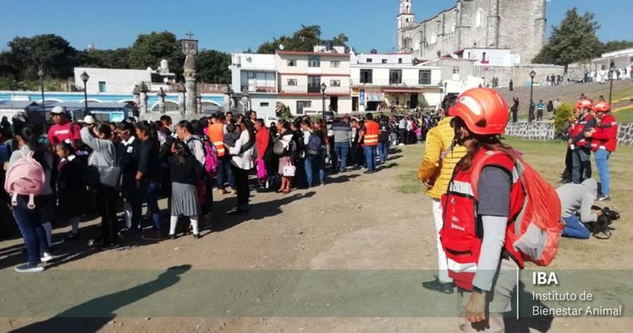 Desarrollan en Puebla macrosimulacro de erupción del Popocatépetl