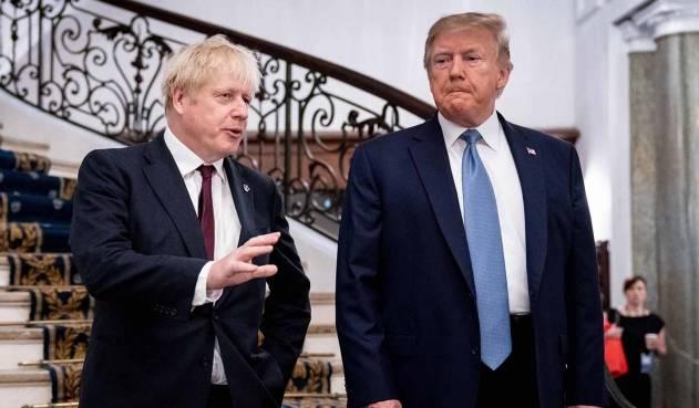 Boris Johnson pide a Trump mantenerse alejado de elecciones británicas
