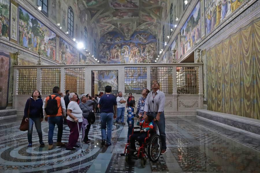Se prevé visitarán 20 mil personas diarias réplica de Capilla Sixtina