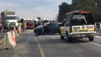 Accidente vehicular en Tlaxcala-Apizaco