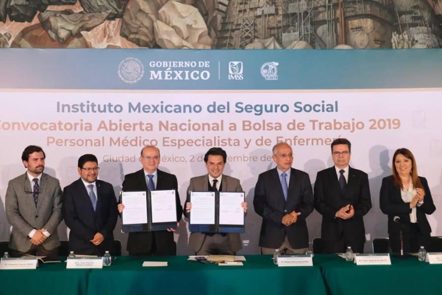 Presenta IMSS convocatoria de Bolsa de Trabajo 2019