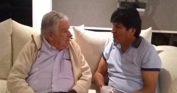Se reúnen Evo Morales y José Mujica en la CDMX