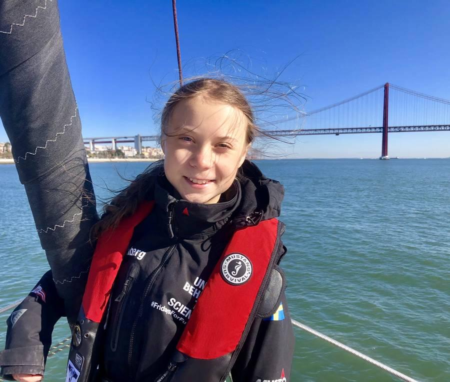 Greta Thunberg, llega a Lisboa