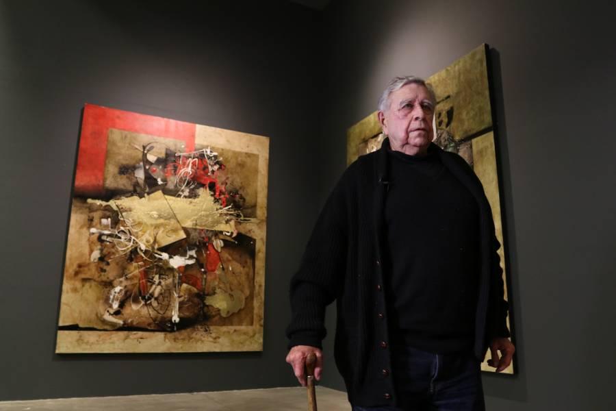 Manuel Felguérez celebra en el Muac 91 años con donación de obras y archivo