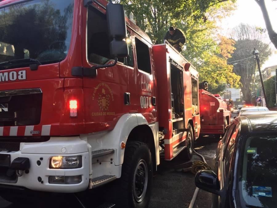 Reportan fuga de gas de una pipa en la colonia Anzures, alcaldía Miguel Hidalgo