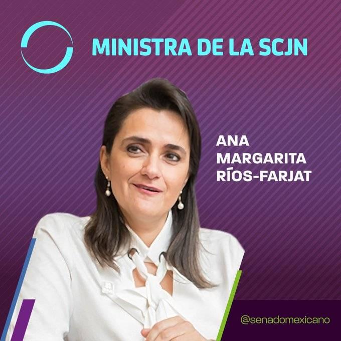 Margarita Ríos-Farjat es la nueva Ministra de la Suprema Corte de Justicia de la Nación