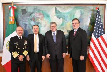 Acuerdan fortalecer Grupo de Alto Nivel de Seguridad México-Estados Unidos