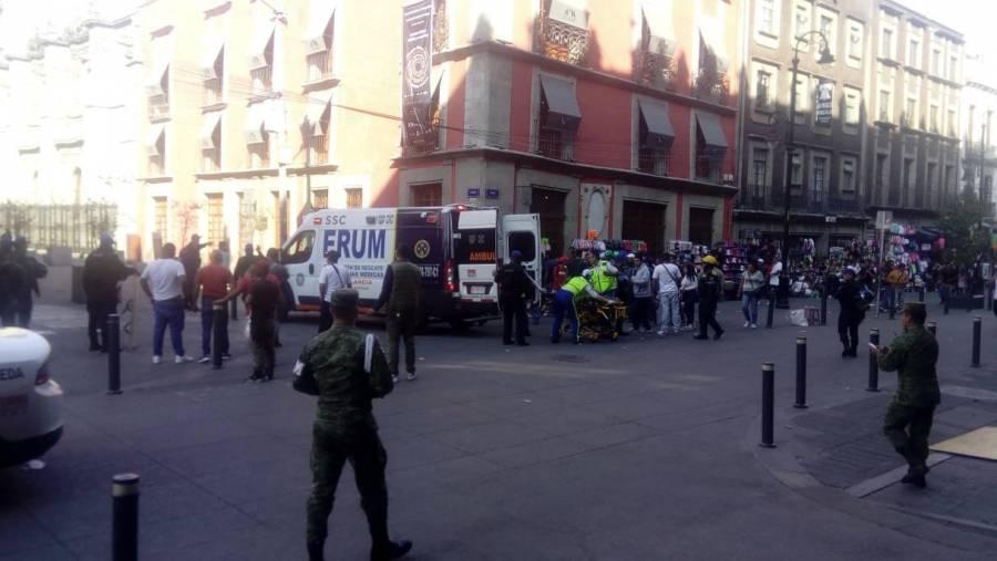 Reportan en redes sociales balacera en el Centro Histórico de la CDMX
