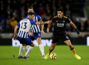 Con asistencia de Raúl Jiménez, Wolverhampton empata ante el Brighton