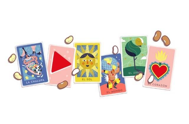 Google rinde homenaje a lotería mexicana con doodle