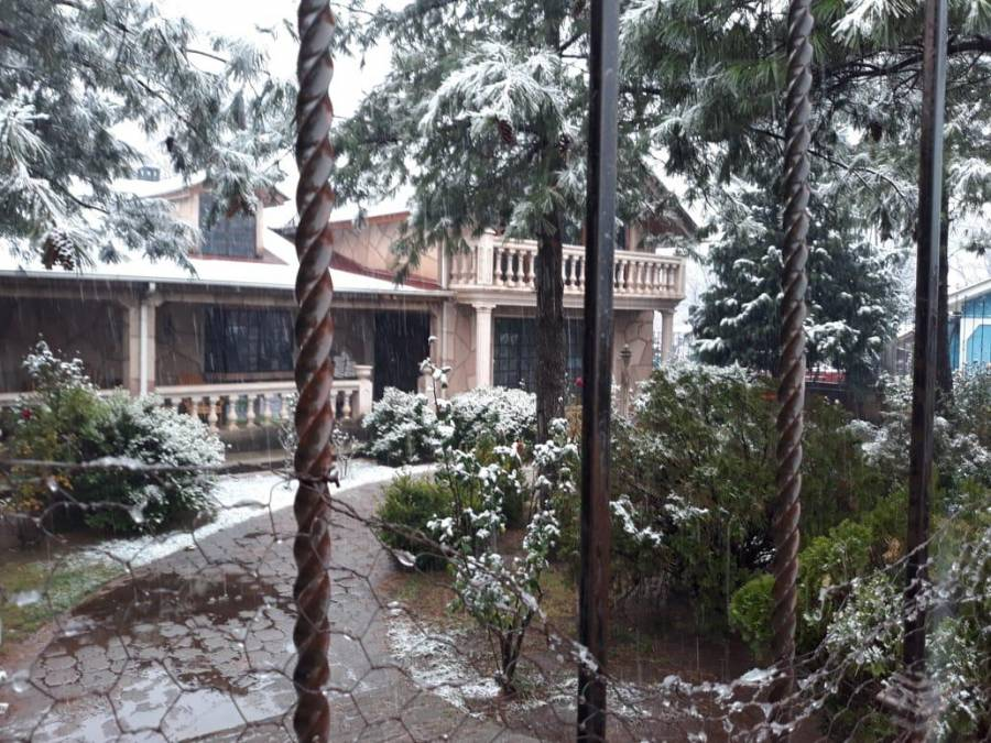 Llega la nieve a Chihuahua