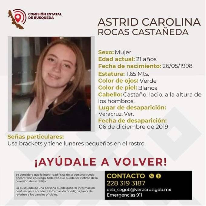 Lanzan #TeBuscamosAstrid para localizar a joven desaparecida