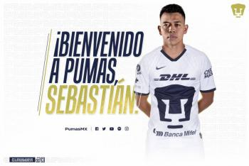 Pumas hace oficial el fichaje de Sebastián Salcedo