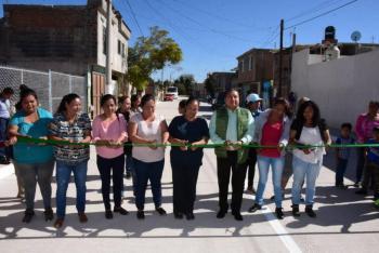 Inauguran pavimentación integral con concreto hidráulico en Soledad