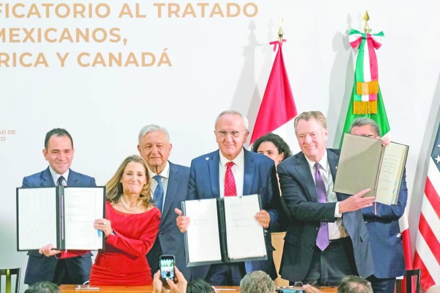 Firman México, EU y Canadá ajustes a T-MEC
