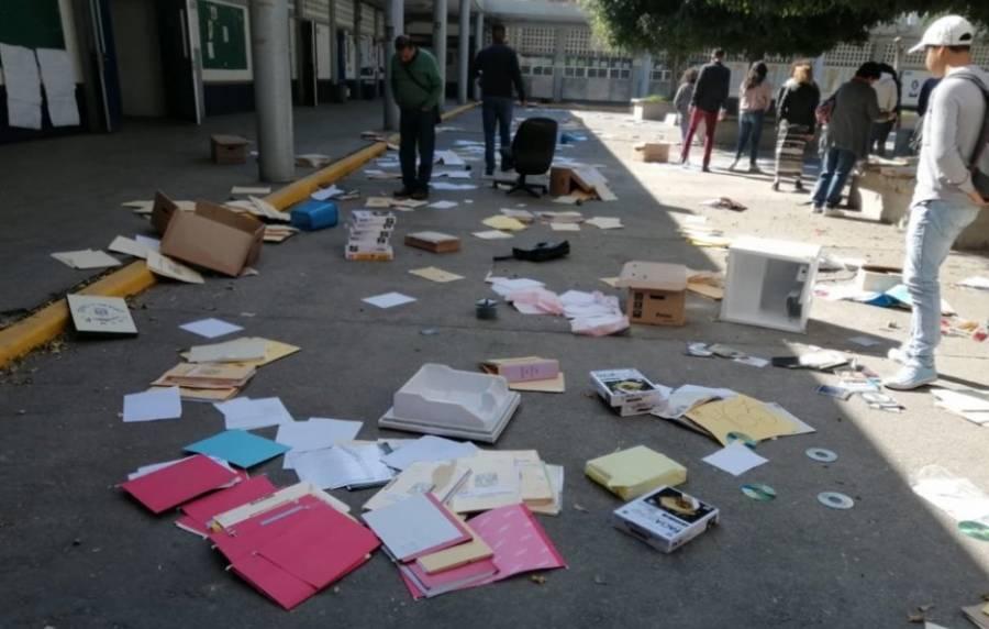 UNAM interpone denuncia tras destrozos en Prepa 7