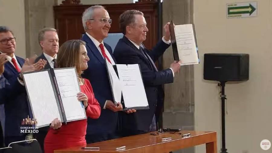 Firman en Palacio Nacional adenda del T-MEC
