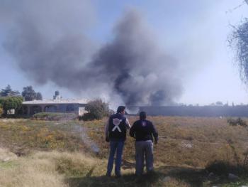 Explota polvorín en Puebla