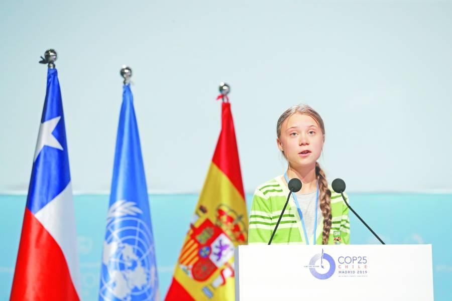 Países ricos engañan sobre reducción  de contaminantes: Greta Thunberg