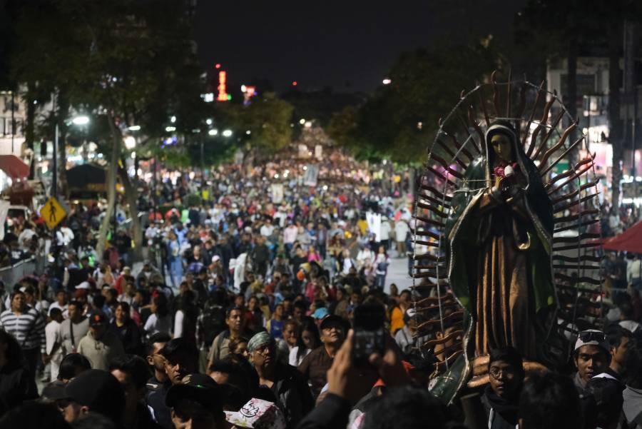 Iglesia reporta más de 15 mil personas en la Basílica de Guadalupe