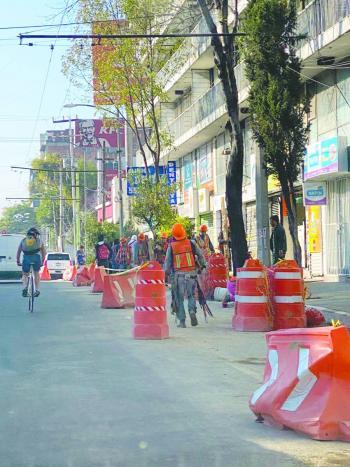 Temen ambulantaje por obras en Coyoacán