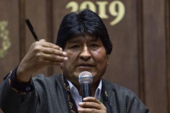 Evo Morales lanzó su primera arenga política desde Argentina