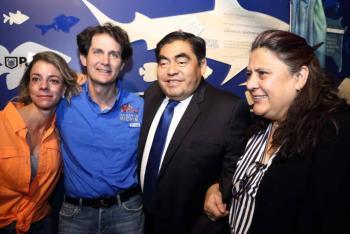 Acuario Michin sumará a la construcción de la paz en Puebla, asegura Barbosa