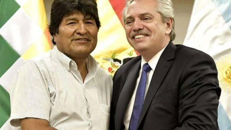 Alberto Fernández recibió a Evo Morales en gobierno argentino