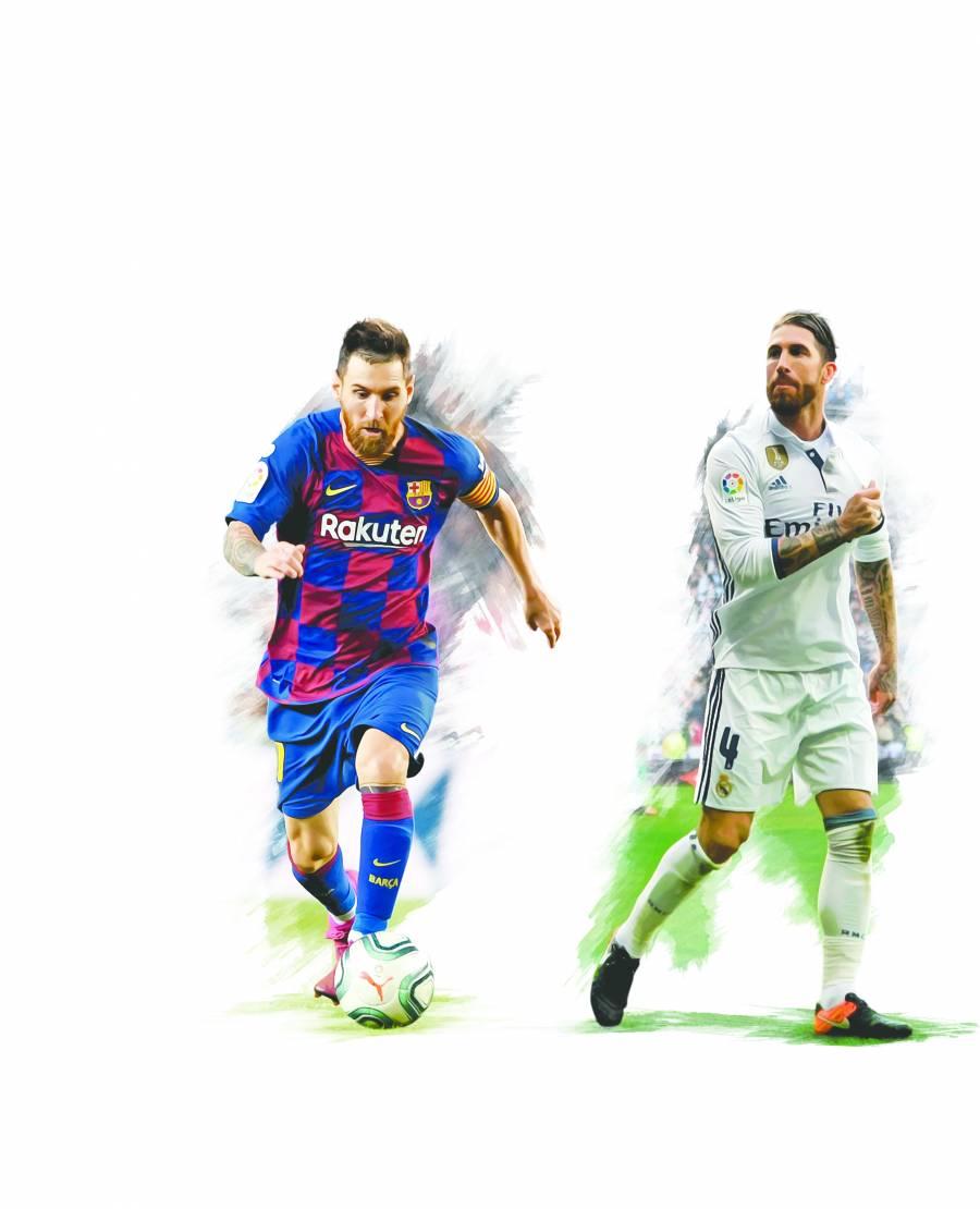 Barca y Real Madrid disputan liderato en medio de amenazas de invasión