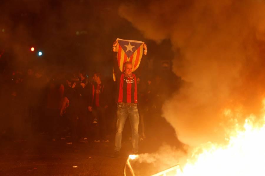 Enfrentamientos dejan 12 heridos tras el Barcelona vs Real Madrid