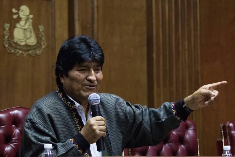 Amor con amor se paga, señala Evo Morales al Presidente Obrador
