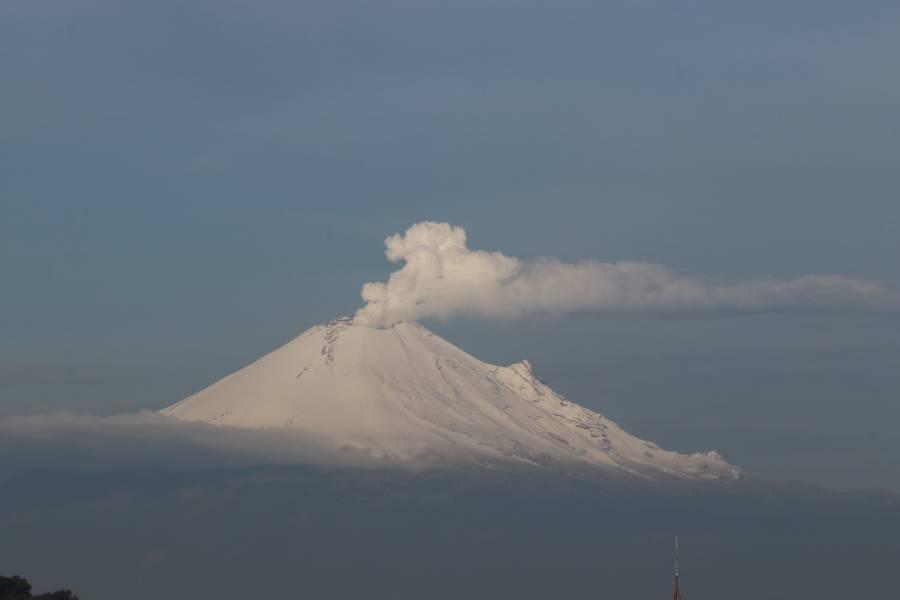 Se prevé caída de nieve en el Popocatépetl, Iztaccíhuatl y Nevado de Toluca