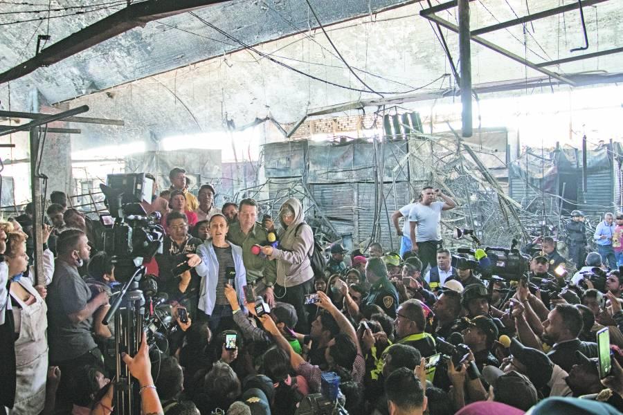 Tras incendio, Invertirán 50 mdp para rehabilitar la Merced