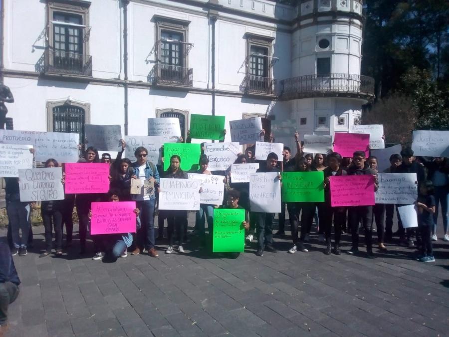 Alumnos denuncian violencia y exigen justicia para Nazaret
