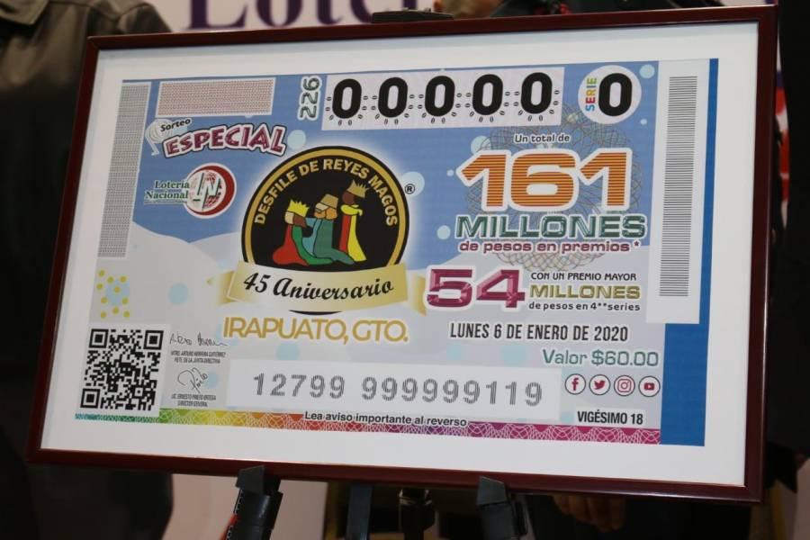 Emite Lotería Nacional Billete de la Cabalgata de Reyes de Irapuato