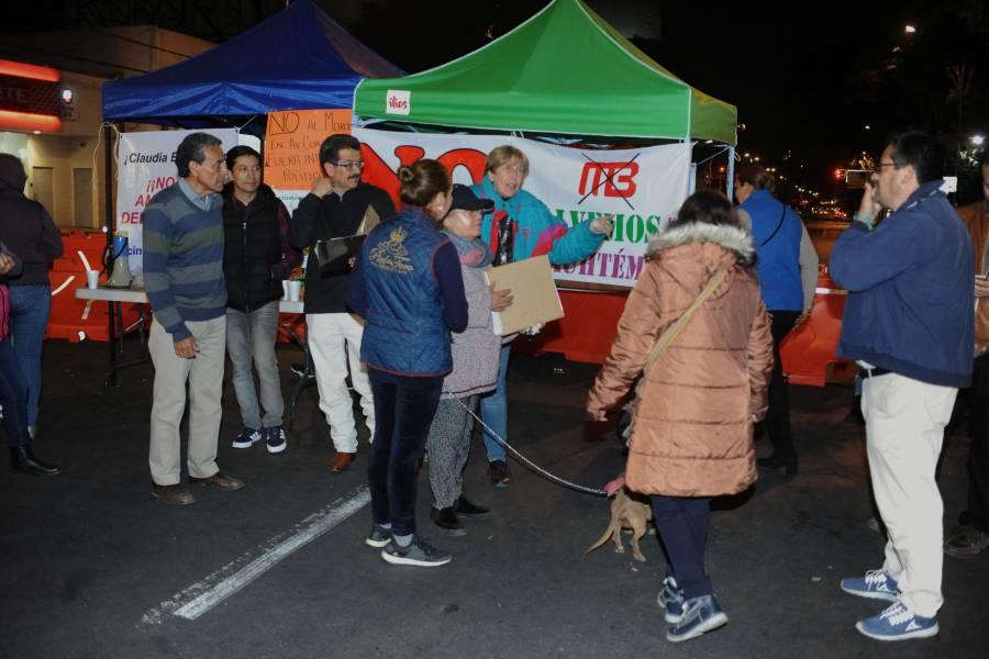 Continúa bloqueo en avenida Cuauhtémoc en oposición de la ampliación del Metrobús L3