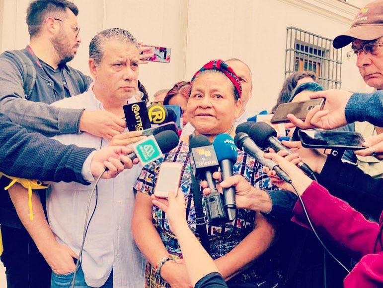 Menchú se solidariza con México en diferendo con Bolivia
