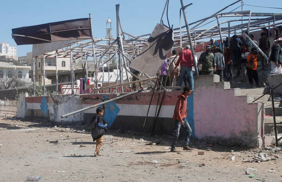 Ataque a ceremonia militar en Yemen deja siete muertos