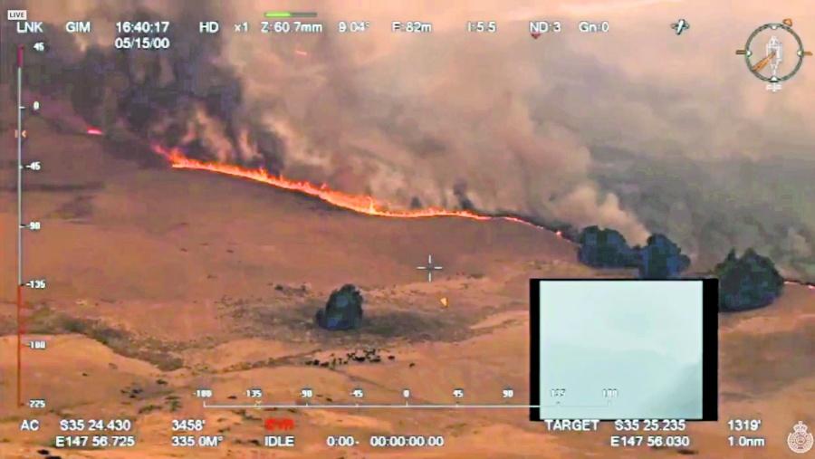 La ola de calor aviva  el fuego en Australia