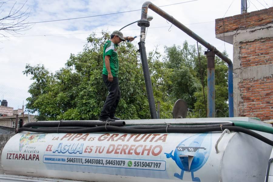 Con 360 pipas se enfrentará falta de agua en 37 colonias de Iztapalapa